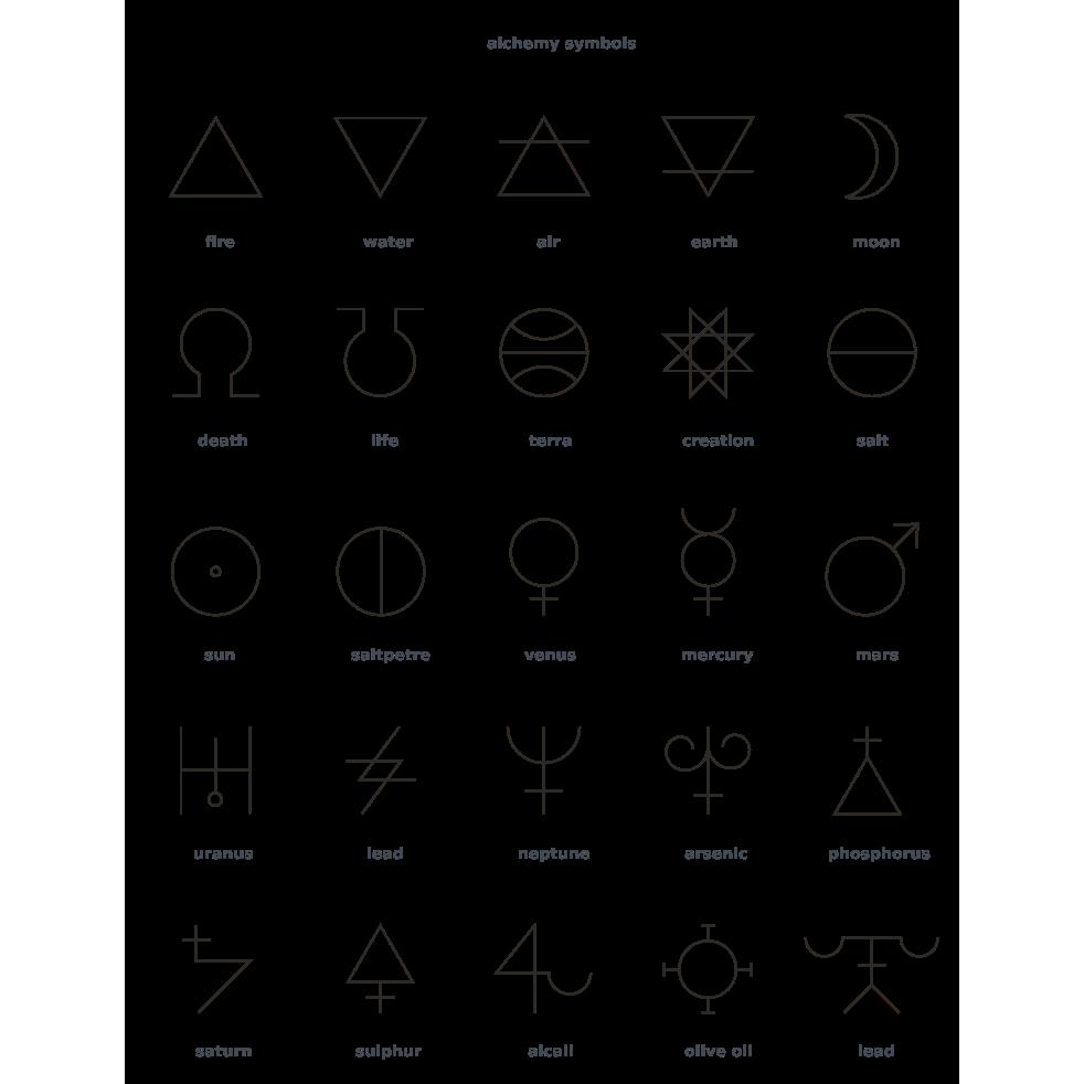 Alchemy symbols apparel everpress biocorpaavc