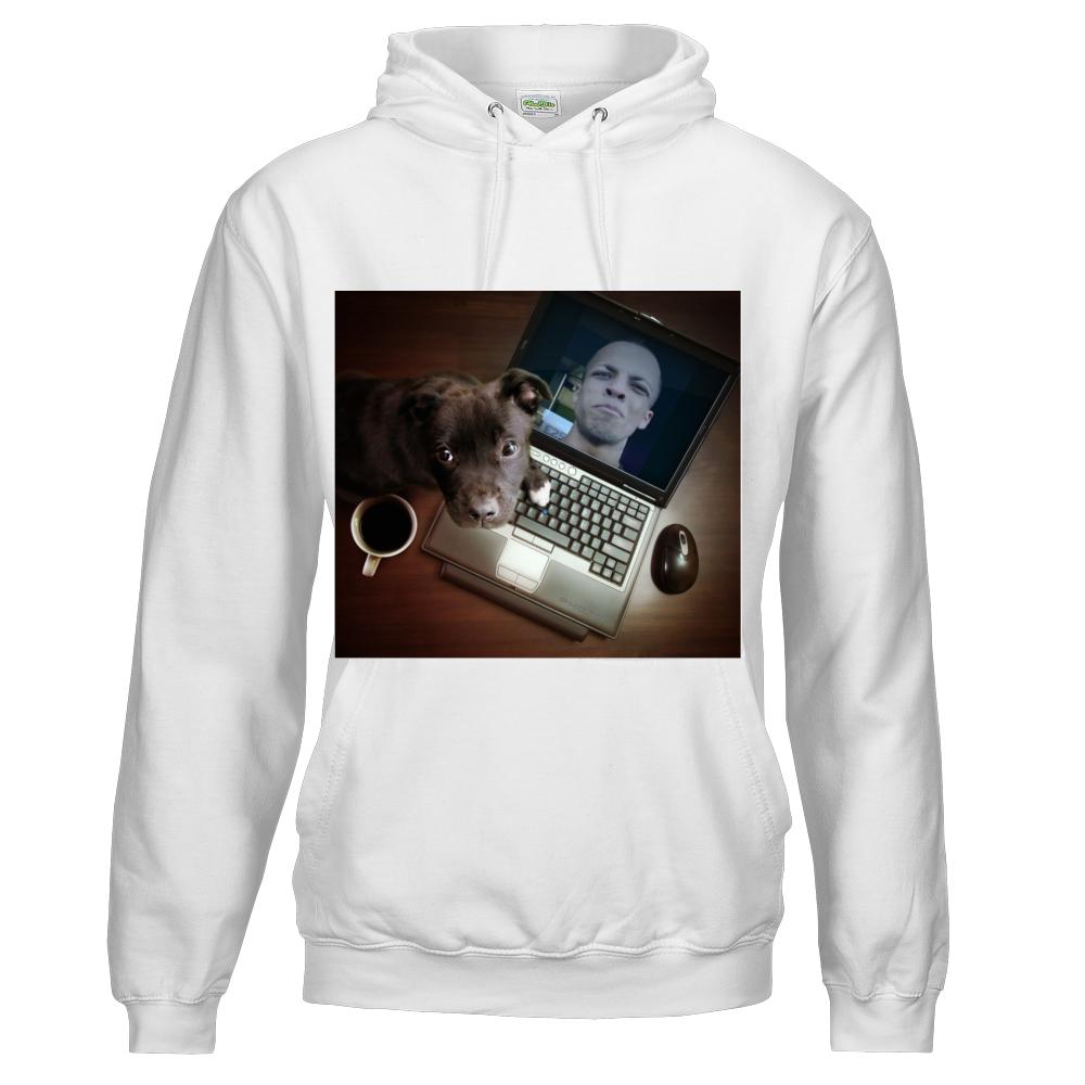 Afghan Dan unisex standard college hoodie arctic white